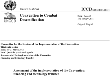 Review of the financial support to the implementation... (UNCCD report)