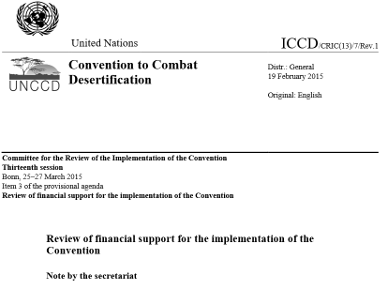 Assessment of implementation of the Convention (UNCCD report)