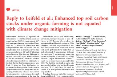 Reply to Leifeld et al.: Enhanced top soil carbon stocks under...