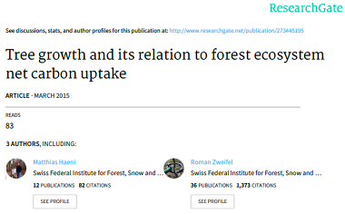 Tree growth and its relation to forest ecosystem net carbon uptake