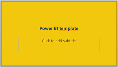 Microsoft Power BI PowerPoint Template