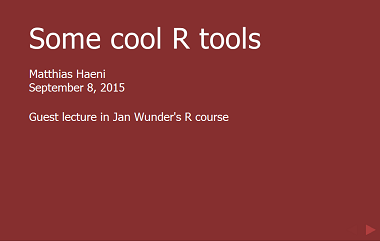 Cool R tools
